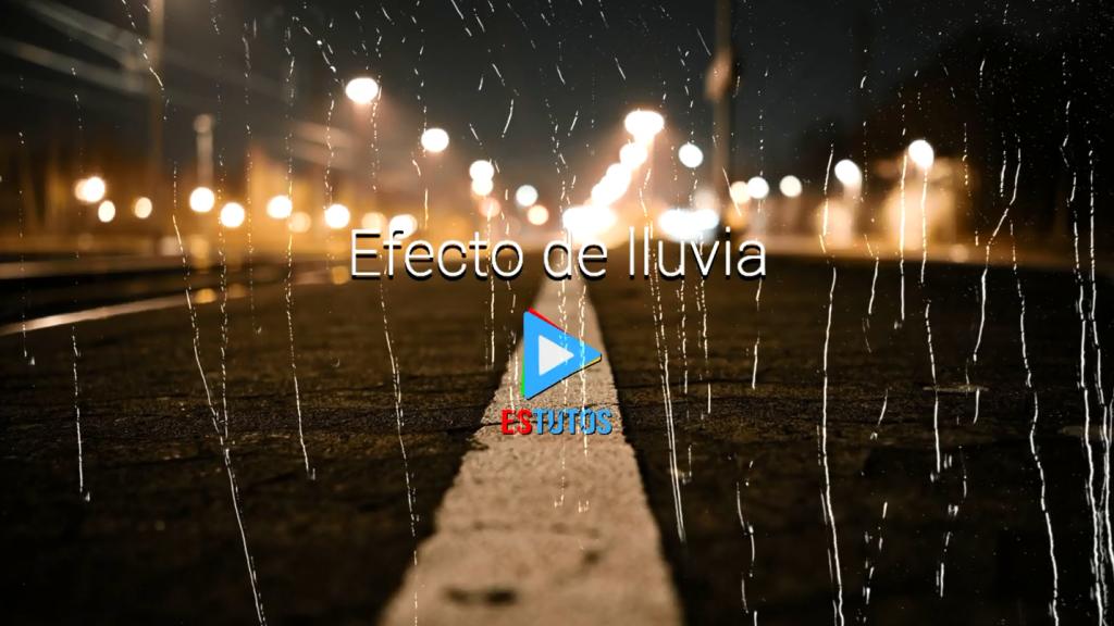 Efecto de lluvia para Adobe Premiere Pro