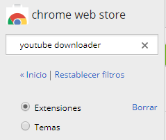 Descargar vídeos de Youtube en Google Crhome