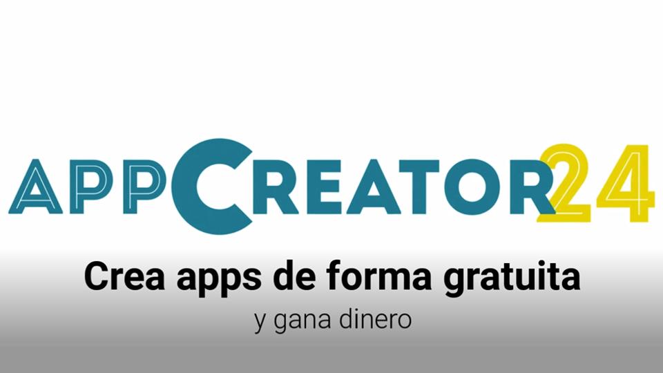 app creator 24, como crear una aplicacion para android con appcreator24 sin saber programar, google, youtube,, audiojungle,