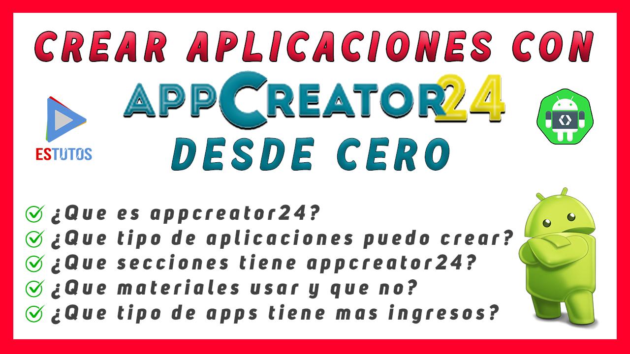 como crear una aplicacion para android con appcreator24 sin saber programar